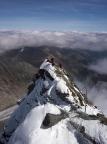 Der schmale Gipfel des Kleinglockner, aufgenommen vom Großglockner