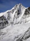 Großglockner Nordwand, aus Blickrichtung von der Oberwalderhütte