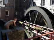 Geocaching in Maastricht - Christiane hat das Döschen an der Mühle gefunden