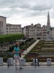 Blick von der Messe zum Stadtzentrum Brüssel