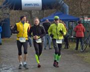 Jahreslaufstart als Team mit Ralph Dietz und Volker beim Leipziger Wintermarathon