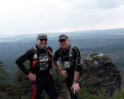 Das war 2015 - Trailtraining mit Volker im Elbsandsteingebirge, hier an der Böhmischen Aussicht, März