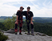 Das war 2015 - Endlich mal wieder der Schusterweg am Falkenstein, mit Wiese auf dem Gipfel, Juli