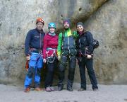 Ein toller Herbsttag – vor der Begehung der Häntzschelstiege mit Franzi und Hoffi, die an diesem Wochenende Lust auf Mehr zum Thema Bergsteigen bekommen haben.