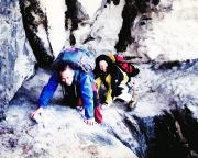 16.02.2002 - auf dem Bergsteigerpfad in den Honigsteinen