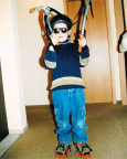 2004 März - Früh übt sich, wewr Meister im Eisklettern werden will