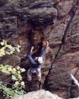22.06.2003 - Inga in der Nebelwand am Nassen Stein im Bielatal