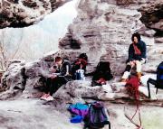 24.03.2001 - Lager unseres Team am Fuße des Talwächters