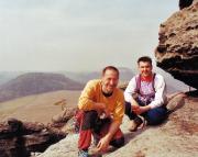 25.03.2004 - Auf dem Gipfel Junggeselle am Pfaffenstein mit Rene D.