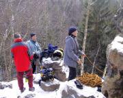 Klettern am 01.01.2004 an der Nymphe im Bielatal