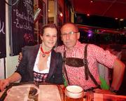 Köln 2015 - Nach dem Konzert in einem Steakhause am Rhein.