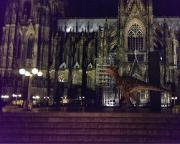 Köln 2015 - Auf dem Rückweg zum Hotel, eine etwas ungewöhnliche Einlage - ein T-Rex vor dem Kölner Dom!
