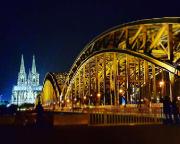 Köln 2015 - Hohenzollernbrücke und Dom - aufgenommen von Max mit seinem Samsung-Handy - auf dem Rückweg vom Konzert.