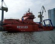 Kurztripp nach Wismar - Beeindruckend, ein frisch produzierter Eisbrecher für die russische Marine.
