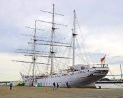 Ostseeurlaub 2017 – im Hafen von Stralsund ist die Gorch Fock ein Muss