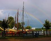 Ostseeurlaub 2017 – Lichtspiele über dem Hafen von Althagen