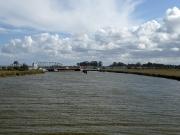 Ostseeurlaub 2017 – Blick auf die Meiningenbrücke während einer Boddenrundfahrt