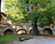 Innenhof der Spitalbastei in Rothenburg ob der Tauber