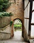 Stadtmauer von Rothenburg, immer wieder trifft man auf solche schönen Details
