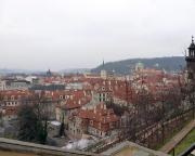 Jahreswechsel 2015 - 2016 in Prag - Blick von der Prager Brug in Richtung Karlsbrücke.