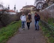 Jahreswechsel 2015 - 2016 in Prag - Ein vielleicht etwas unüblicher Abstieg von der Prager Burg, aber wir haben auf dem Rückweg ein besonderes Zieol ...