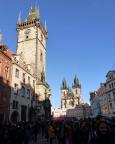 Jahreswechsel 2015 - 2016 in Prag -  Was gleich war wie im Vorjahr - Menschen über Menschen, Prag ist zum Jahreswechsel ein internationaler Schmelzkessel.