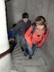 Aufstieg auf den Turm der Burg Greifenstein