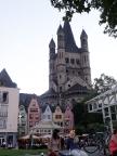 Kölner Altstadtblick vom Rhein aus aufgenommen