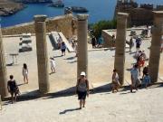Rhodos - Akropolis Lindos, die zweitgrößte nach Athen