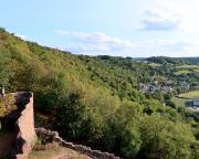 Blick auf Waldenhausen und die letzten Meter des Taubertal-Panoramaweges
