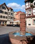 Brunnen der Welt in der Altstadt von Wertheim am Main