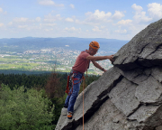 Klettern am Jested bei Liberec