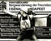 Nicht nur der Rennsteig, sondern den Wanderweg Eisenach-Budapest stand komplett auf dem Plan