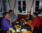 Gemütlicher Abend in der Moravska-Baude, unserem Nachtquartier.