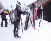 Skitour 2007 - fast geschafft, letzte Rast in Jiserka, wenige Kilometer vor dem Ziel und der heimfahrt