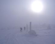 Trotz allem war die Sonne nicht zu verkennen, eine herrliche Stimmung in eisiger Kälte