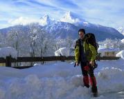 Watzmann im Winter, ein Tag der mit diesem Blick beginnt wird gut