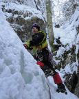 Eisklettern im Aldischlauch bei Unterau - im Einstieg