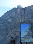 Nordwandfeeling: Tafel zum Nachvollziehen der Heckmair-Route