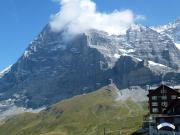 Blick von der Kleinen Scheidegg zur berühmten Eigernordwand