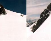 Eiswandbichl Nordwand – Blick in die und aus der Firnwand