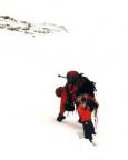 Johannisberg Nordwand - auf den ersten noch wenig steilen Metern