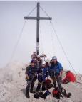 Alpspitz-Ferrata - Gipfelfreude und überraschend sogar etwas Sonnenschein hier oben