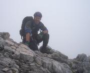 Alpspitz-Ferrata - während des gut zu findenden Abstiegs über den Ostgrat