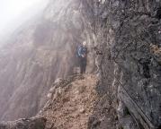 Alpspitz-Ferrata - im Nordwandsteig, hier geht es zurück zum Einstieg