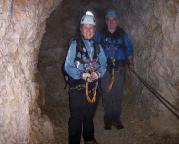 Alpspitz-Ferrata - in einem der Tunnel des Nordwandsteiges der Alpspitze