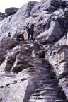 Auf dem Rotstock - Klettersteig - beim Abstieg