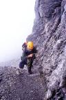 Auf dem Rotstock-Klettersteig - unterwegs im Aufstieg zum Gipfel