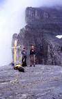 Auf dem Rotstock - Klettersteig  Kerstin und Siggi auf dem Gipfel