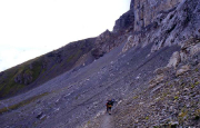 Rotstock - Klettersteig - Zustieg in Richtung Eiger-Nodwand